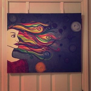 """Other - Original Painting - """"Space Traveller Lost"""" ♥️✨"""